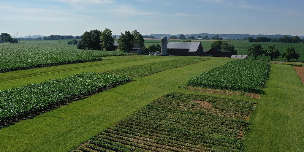 This agronomic image shows the Mt. Joy, PA Grow More Experience site.